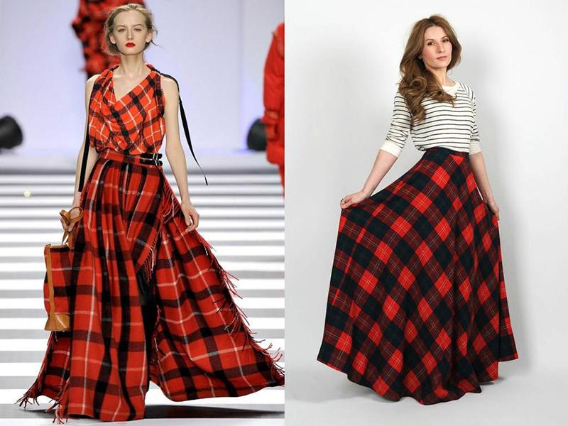 1c31b6d907c Красная юбка в клетку  лучшие фасоны и модели для любого сезона и ...