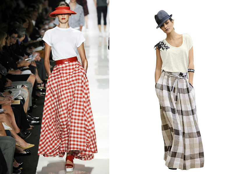 cffc539eac7 Длинная юбка в клетку: разнообразие моделей и расцветок | Мода от ...