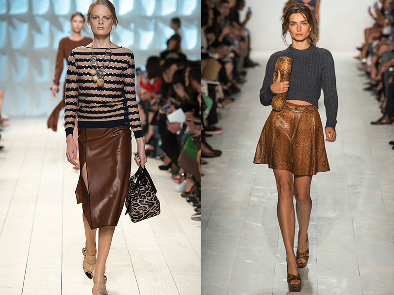 a133e63d94f юбка зауженного кроя – коричневая кожаная юбка-карандаш станет оригинальным  решением для делового гардероба. Такая модель подчеркнет стройность фигуры  и ...