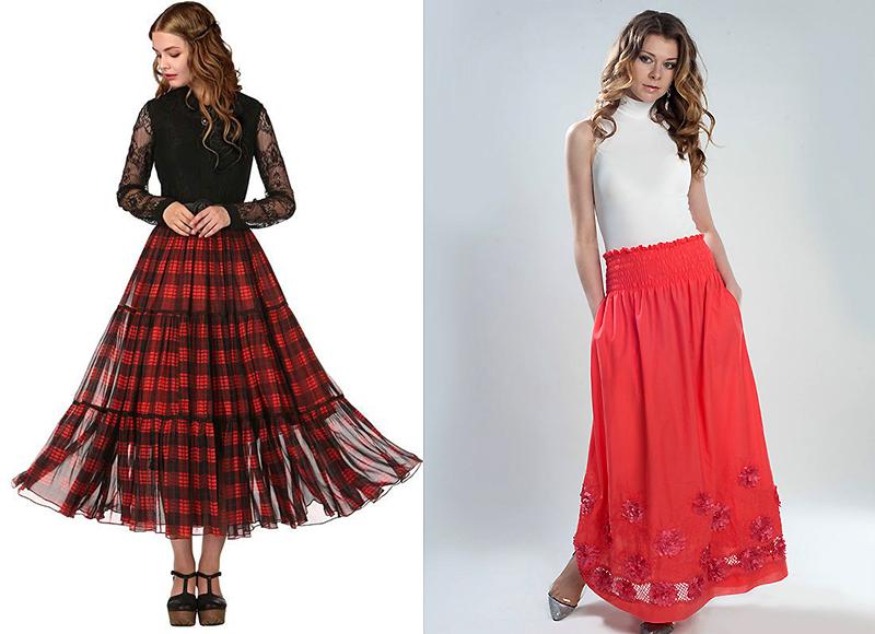 886f891af48 Длинная юбка на резинке: фасоны, модели, расцветки | Мода от Кутюр.Ru
