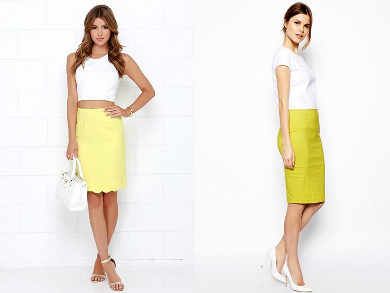 386c304c247 Желтая юбка-карандаш  внесет яркость в ваш образ