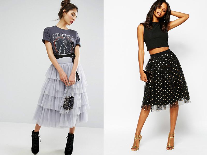 ad2c340aa12 Пышные шифоновые юбки подходят для создания образов в духе панк или готика.  Если дополнить юбку черной кожаной курткой