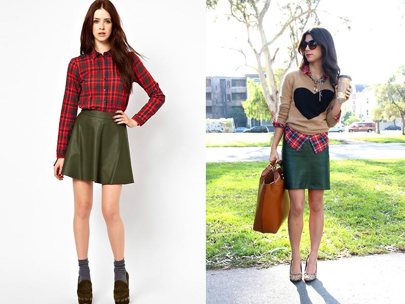 812a77a9f9b Для любительниц мужских рубашек есть хорошая новость  юбка и в данном  случае будет гармонично смотреться. Выбирайте рубашки в сине-бело-зеленую