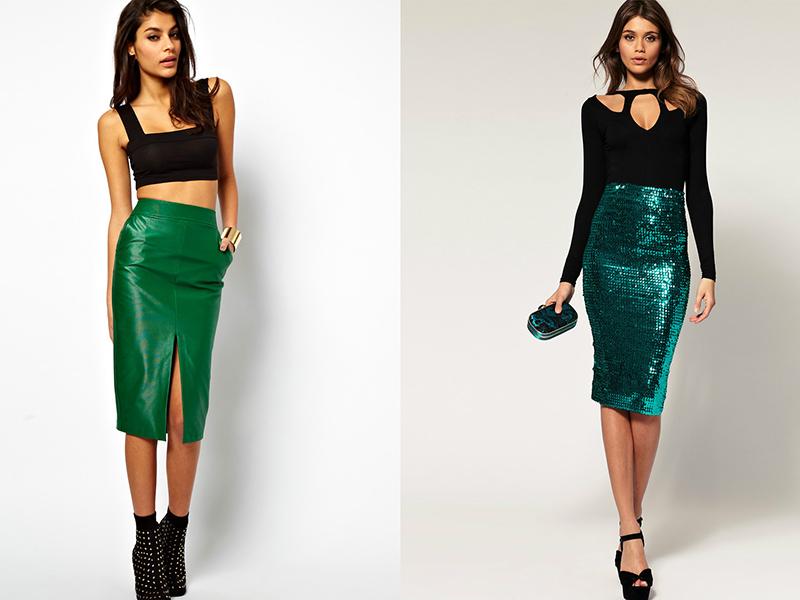 3592eaf2afc Великолепная летняя юбка-карандаш зеленого цвета изготавливается из сатина