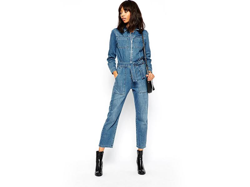 фото комбинезон джинсовый женский