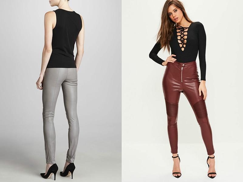 ac6a39d65c730 Легинсы из экокожи – модный тренд сезона | Мода от Кутюр.Ru