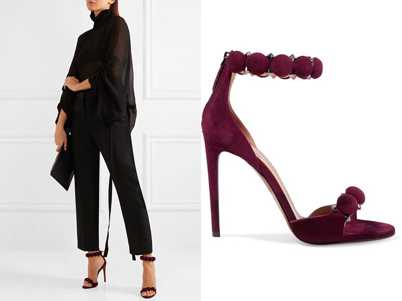 f2c86730fd4ac75 Если планируется сделать обувь самым ярким «пятном» ансамбля, то стоит  выбрать красные замшевые босоножки. Такая модель эффектно будет смотреться  с одеждой ...