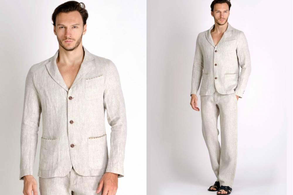 d94de120c576 Летний льняной пиджак является отличным выбором для настоящего мужчины.