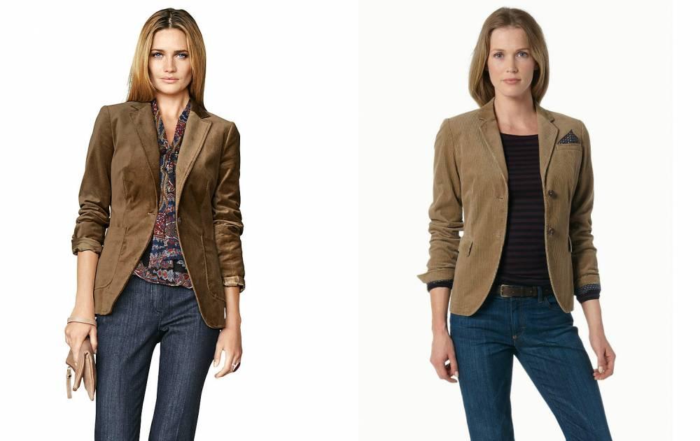 с чем носить вельветовый пиджак женский фото идея концепция