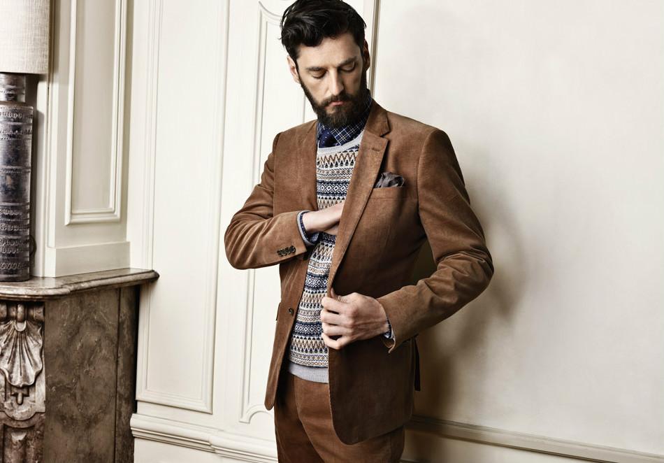 933dde54503 Коричневый мужской пиджак – одежда для джентльмена
