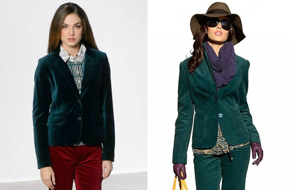 с чем носить вельветовый пиджак женский фото является