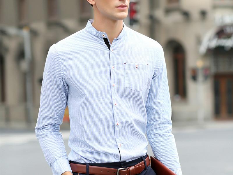a7e71e7e5056901 Модно и стильно выглядят рубашки с приподнятым воротником, напоминающим  стойку. Такие изделия удобны тем, что их можно носить не только на выпуск,  ...