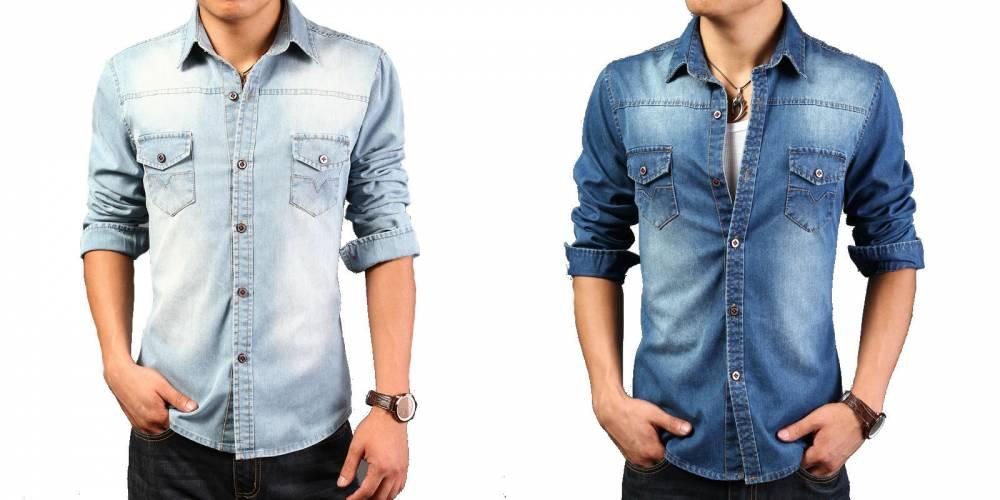 a4fb8ffafd8 Мужская джинсовая рубашка  лучшие варианты и образы