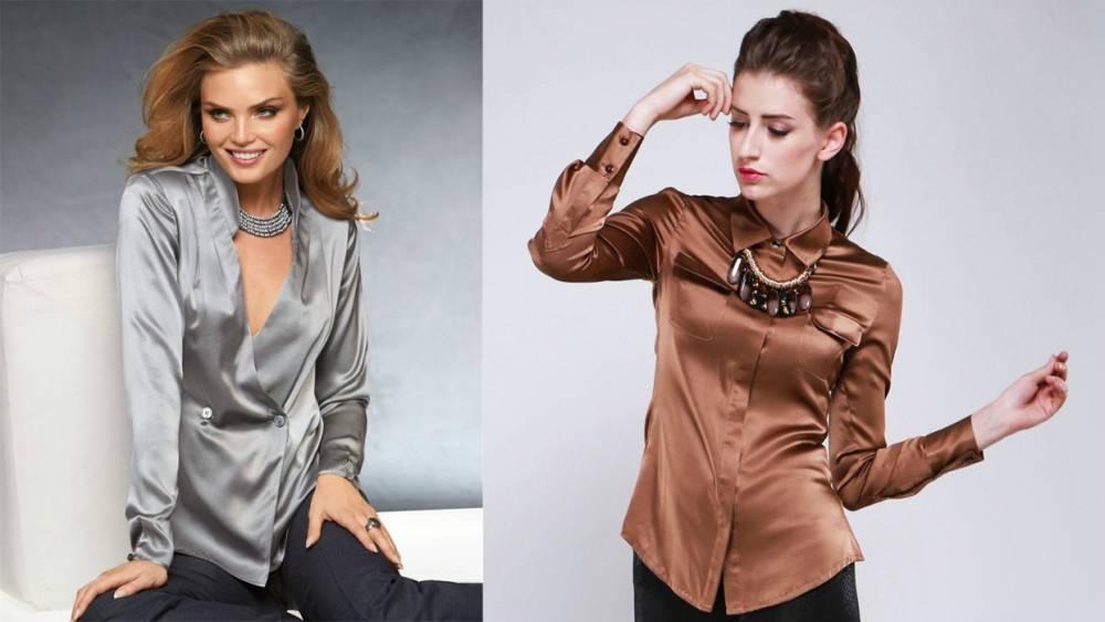 605c88aa74079a6 Женская шелковая рубашка: создай свой неотразимый образ | Мода от ...
