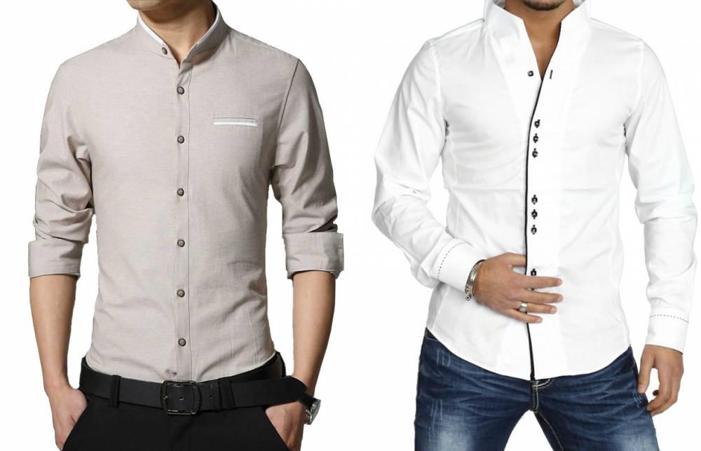 f363a092a28f15a Мужские рубашки с воротником стойкой: модный тренд сезона | Мода от ...