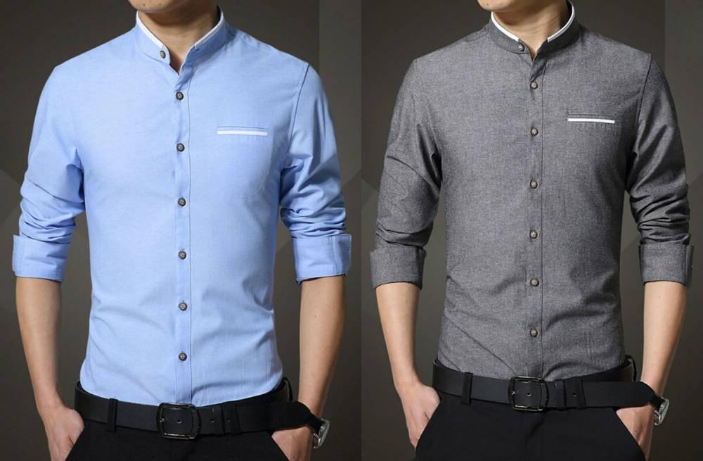 89a4a8de5f5 Мужская рубашка без воротника  особенности стиля и выбора модели ...