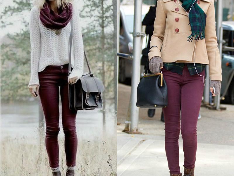 b70abe62d00 Бордовые женские брюки — утонченность и богатство цвета