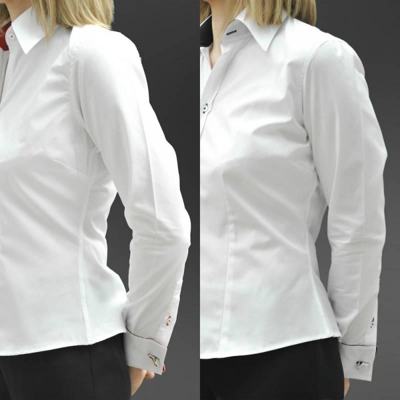 055316a847a Особенности выбора и носки женской рубашки под запонки
