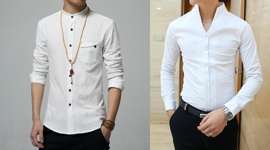 7aaab056a1d85c7 Мужские рубашки с воротником стойкой: модный тренд сезона | Мода от ...