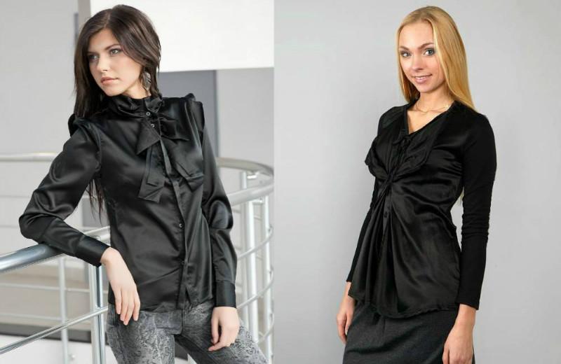 24f89602d6f Черная блузка — для романтичных образов