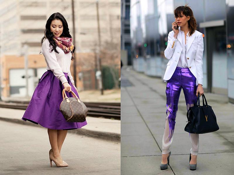 e9cc960591c85fd Используя различные оттенки фиолетового цвета в сочетании с белым, можно  создавать разнообразные образы. Так, комбинация белого с цветом баклажан  смотрится ...