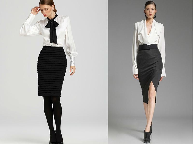 4a854392f95 Изначально носить юбку карандаш с блузкой предлагалось только для офисной  среды