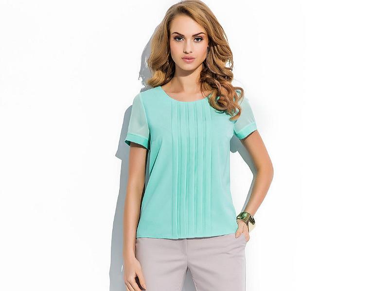 Блузка мятного цвета
