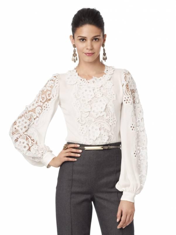 блузка кружевная белая фото включает
