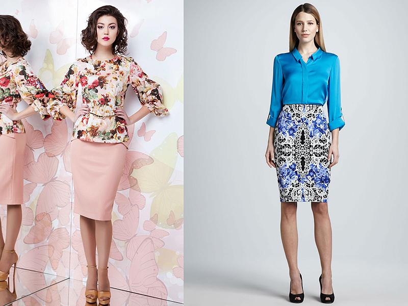 43ef6e3f128 Для лета и весны подойдет шифоновая и шелковая блузка под юбку карандаш.