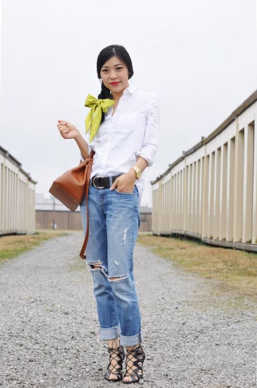 e347190d70c2 Раскрываем секреты сочетания белой рубашки с джинсам | Мода от Кутюр.Ru