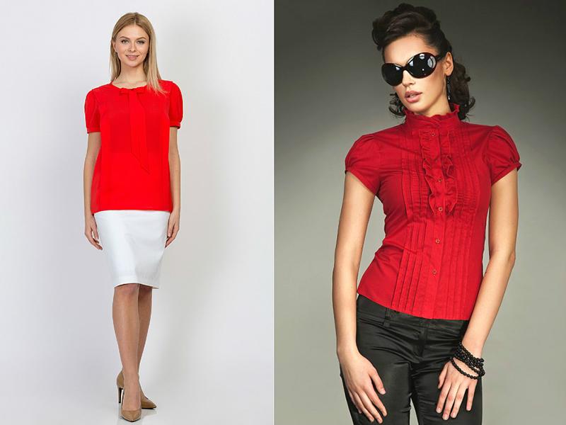 7d0e9ff033f ... черный костюм или сарафан с красной блузой. Зимний вариант одежды –  черная плотная шерстяная юбка карандаш и вискозная или шерстяная красная  блуза.