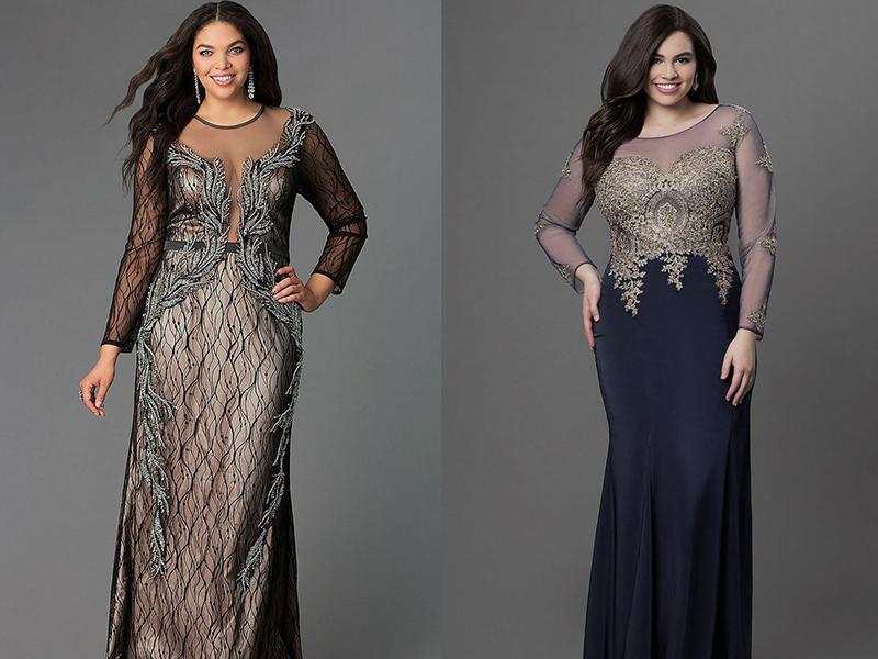 c0e53009b09 Вечерние платья для полных женщин  подчеркнут вашу стать
