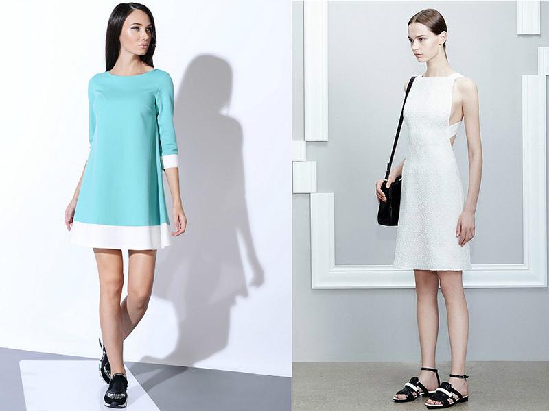 d3f552a35 Создатель презентовал миру короткое платье-трапеция, однако в наши дни  длина уже не имеет такого принципиального значения. Широкое платье, как  правило, ...