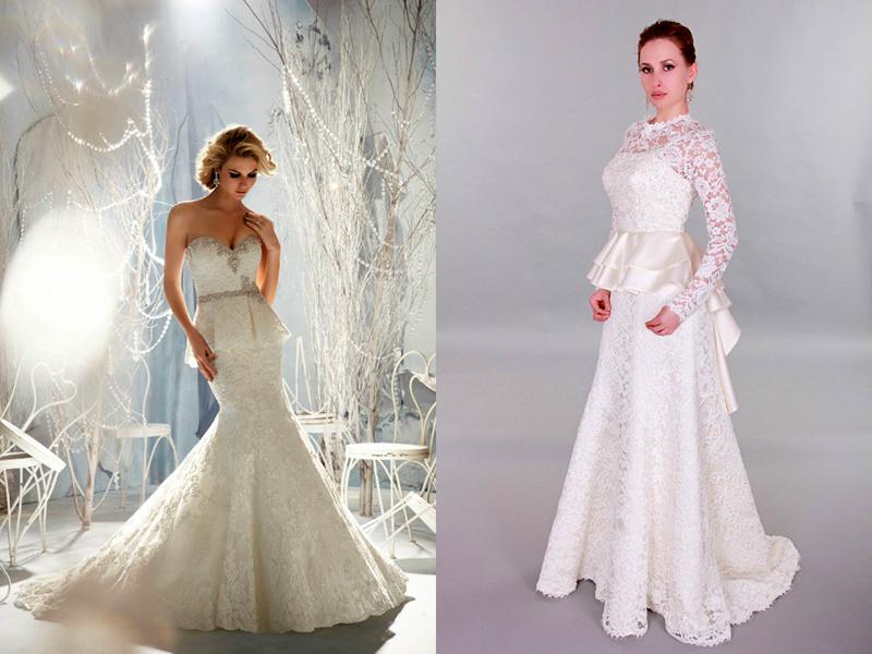 ab9474956031ee9 Свадебная мода также не могла обойти стороной такую интересную деталь, как  баска. Сшить свадебное платье с баской можно из атласа, парчи, шелка.
