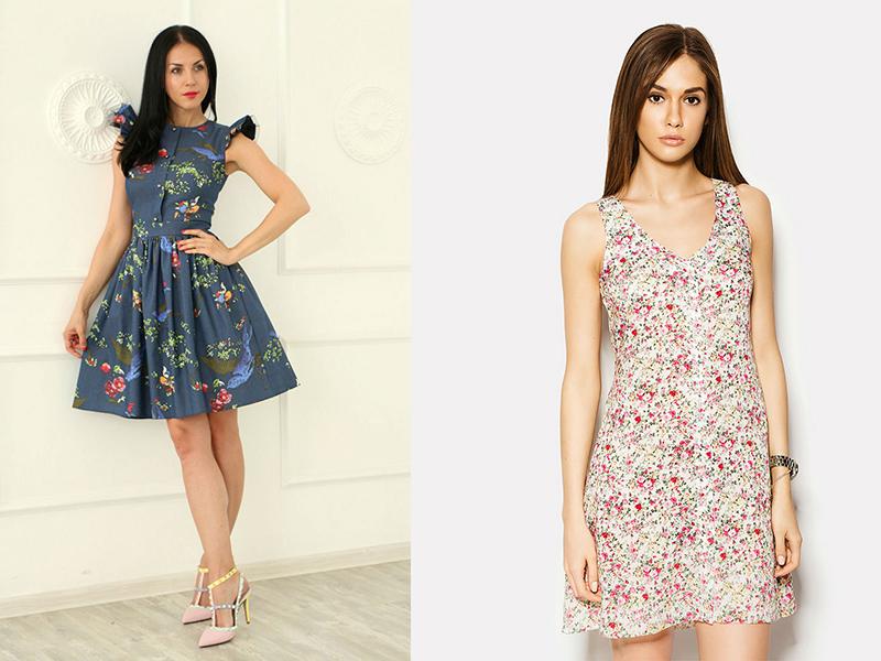 37f51611410 Легкие и нежные шифоновые платья в цветочек хороши для лета. Яркие и  насыщенные наряды