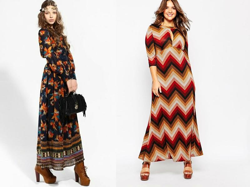 777ea1e60cd Трикотажное теплое платье в стиле 70-х – это прекрасный выбор для стильных  девушек. Дополнить платье можно шейным платком или палантином.