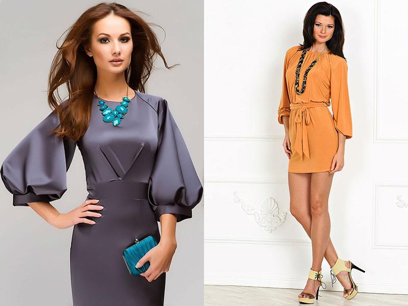 127f966ac586ebb Короткое платье с рукавом реглан из натуральной шелковой ткани – прекрасный  вариант для выпускного бала, праздничного вечера или торжества.
