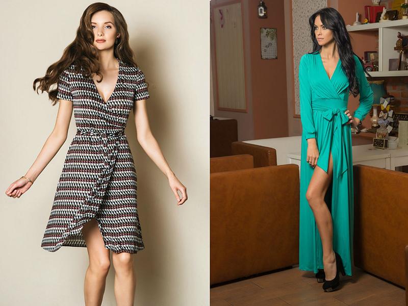 ebd2870fcc2 От холода неплохо защищает вязаное платье с запахом. Трикотажный верх  комбинируют с обтягивающими леггинсами или плотными колготками.