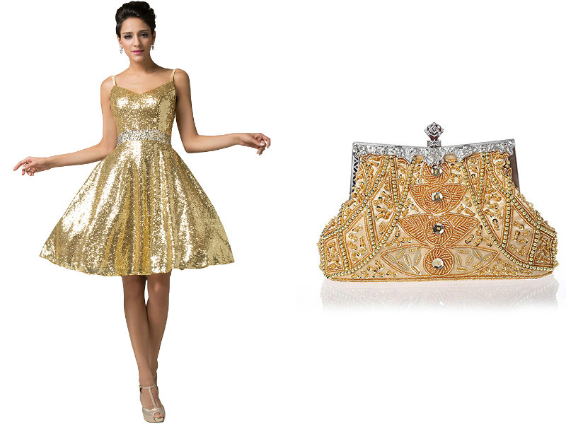 4224ac95c00 Золотистое платье  станьте настоящей звездой