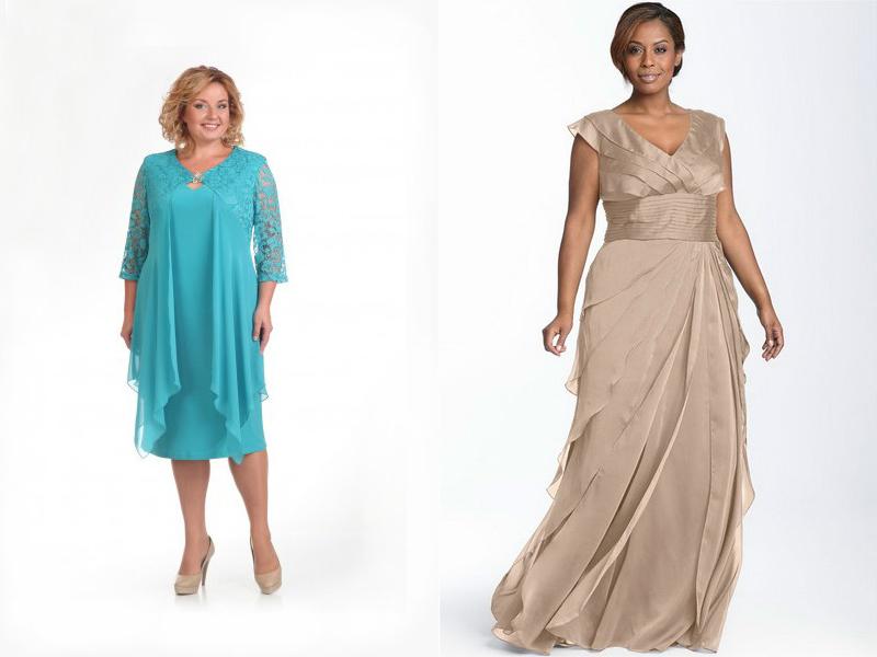 511d9c89a49 Вечерние платья для полных женщин  подчеркнут вашу стать