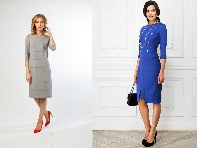 b0e1e447138 В современной моде присутствуют следующие основные фасоны деловых платьев