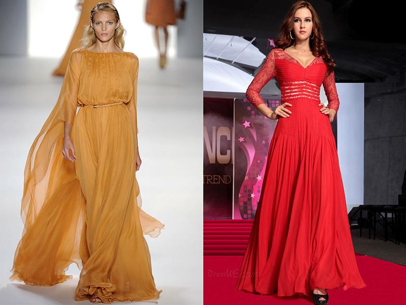 c009a3bb605 Выбор украшений будет зависеть от ткани платья и формы выреза. Вырез в  форме буквы V можно украсить кулоном. Платья с закрытым воротом или  воротом