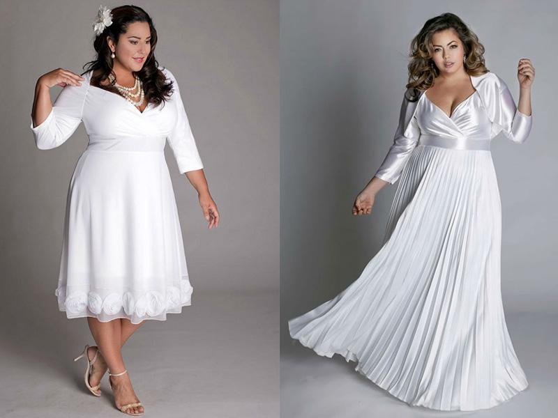 41787722740 Свадебное платье на полную фигуру может иметь разную длину. Если у невесты  фигура «яблоко» с сохранившимися стройными ножками