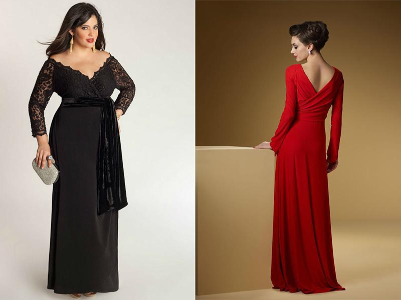 79355c26446 Провокационно выглядят закрытые спереди платья с длинными рукавами и глубоким  вырезом на спине. Этот вариант для вечера подойдет ...