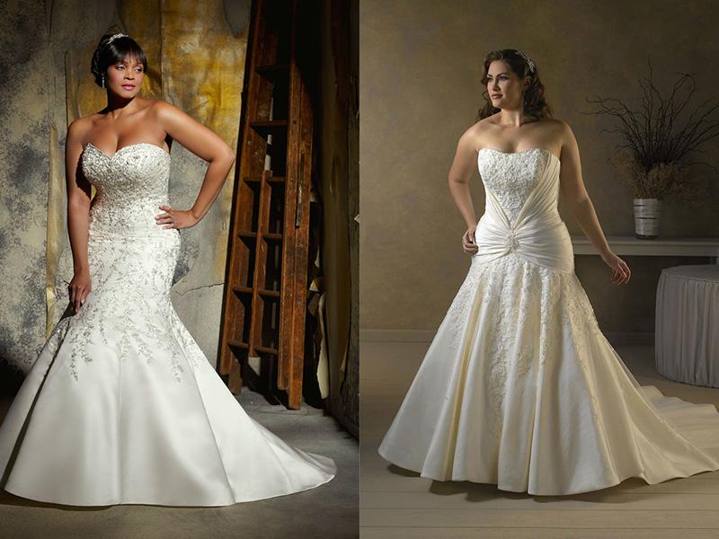 f04738ea826 Модели и фасоны. Кому подходят  Изысканные модели свадебных платьев для полных  женщин ...