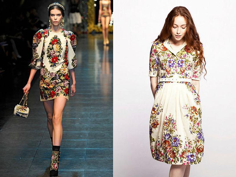 8eb7be9d978 В современных платьях в народном стиле активно используют такие детали