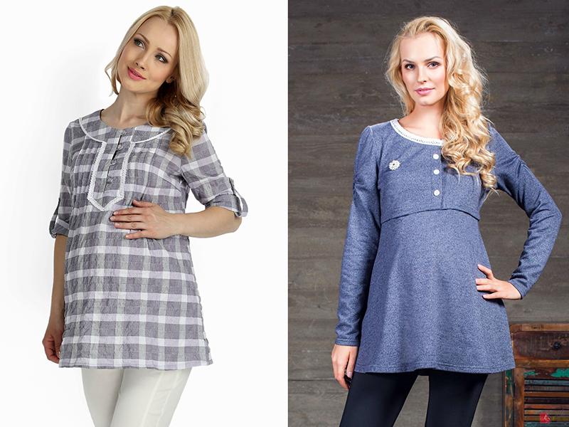 e87883939c34d42 Платье-туника свободного кроя – это оптимальный вариант одежды для  беременных. Будущая мать может носить такое платье до самых родов,  постепенно ослабляя ...