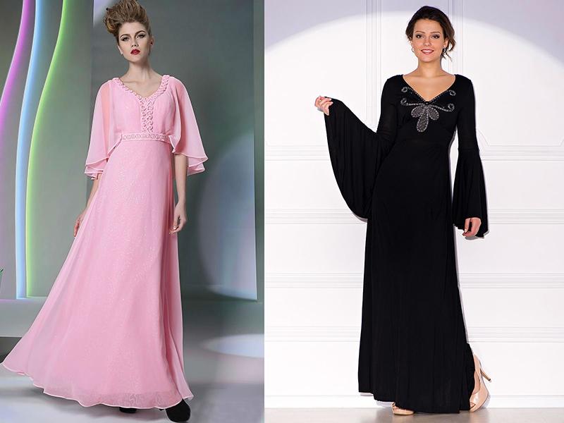 82089b94ccf Платье в пол с длинными рукавами – универсальная модель для любого ...