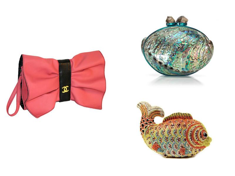 2f80ce566ed3 Однако ежегодно дизайнеры предлагают все новые вариант форм дамских вечерних  сумочек. Например, модный дом Шанель представил клатчи, форма которых ...