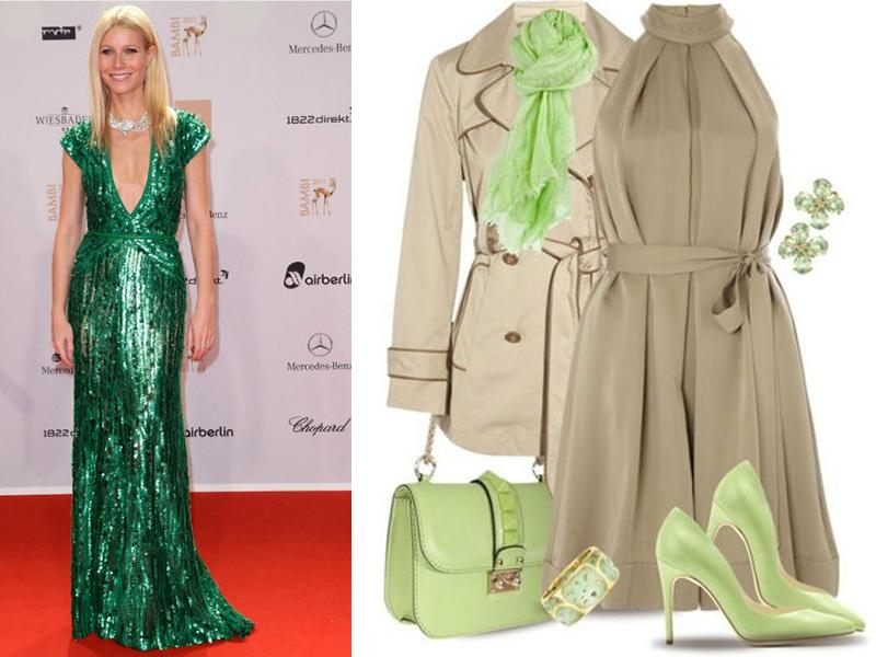 ccee22c3ba8 Зеленому платью позволят заиграть по-новому украшения золотого или  серебряного цвета. Яркий акцент можно поставить